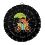 Cute Baby Tiger on Black Gifts for Kids Baby Dartboards