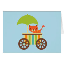 Cute Baby Tiger on Ice Cream Cart Kids Gifts