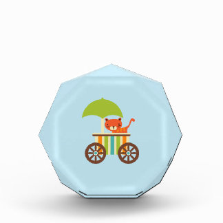 Cute Baby Tiger on Ice Cream Cart Kids Gifts Awards