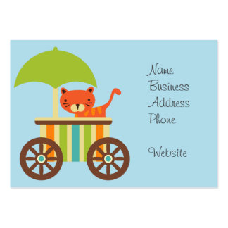 Cute Baby Tiger on Ice Cream Cart Kids Gifts Large Business Card