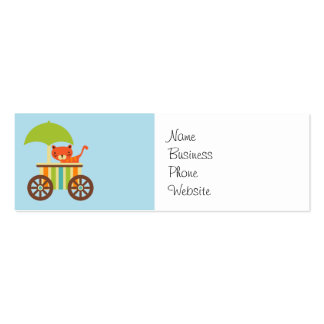 Cute Baby Tiger on Ice Cream Cart Kids Gifts Mini Business Card