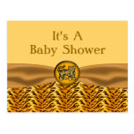 Cute Baby Tiger Stripes Baby Shower Post Card