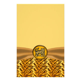Cute Baby Tiger Stripes Baby Shower Stationery