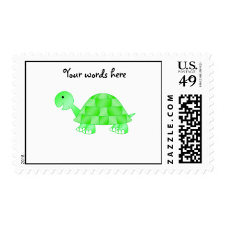 Cute Baby turtle in light green Postage