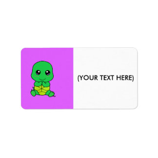 Cute baby turtle label