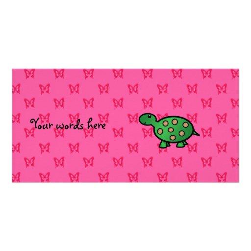 Cute baby turtle photo card