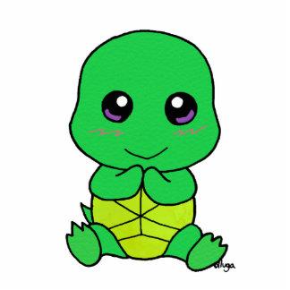 cute Baby turtle Photo Sculpture Keychain