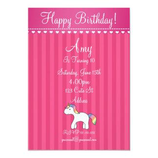 Cute baby unicorn birthday invitation