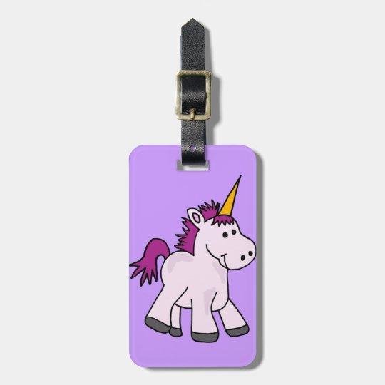 Cute Baby Unicorn Cartoon Bag Tag