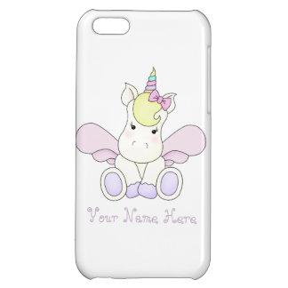 Cute baby unicorn iPhone 5c case personalised