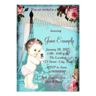 Cute Baby Vintage Paris Baby Shower Invitations