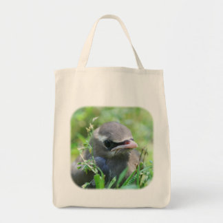 Cute Baby Waxwing Bird Nature Tote Bag
