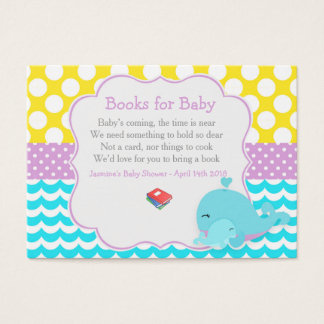 Cute Baby Whale Boy Baby Book Request Business Card