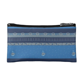 Cute baby whale fun illustration sea style makeup bag