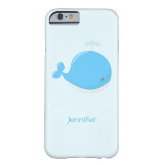Cute baby whale kawaii cartoon kids barely there iPhone 6 case
