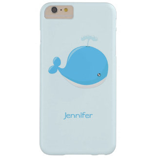 Cute baby whale kawaii cartoon kids barely there iPhone 6 plus case