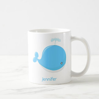 Cute baby whale kawaii cartoon kids coffee mug