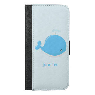 Cute baby whale kawaii cartoon kids iPhone 6/6s plus wallet case