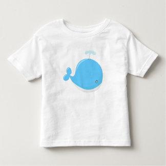 Cute baby whale kawaii cartoon toddler t-shirt