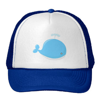 Cute baby whale kawaii cartoon trucker hat