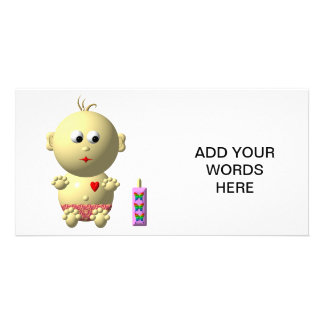 Cute baby with heart! card