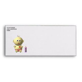 Cute baby with heart! envelope