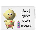 Cute baby with heart! greeting card