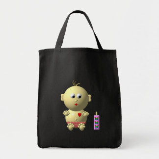 Cute baby with heart! tote bag