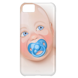 Cute baby with pacifier cover for iPhone 5C
