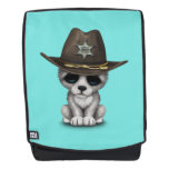 Cute Baby Wolf Sheriff Backpack