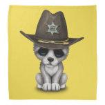Cute Baby Wolf Sheriff Bandana