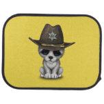 Cute Baby Wolf Sheriff Car Floor Mat