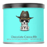Cute Baby Wolf Sheriff Hot Chocolate Drink Mix