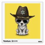 Cute Baby Wolf Sheriff Wall Sticker
