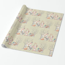 Cute Baby Woodland Animals Gift Wrapping Paper
