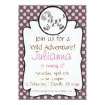 Cute Baby Zebra Birthday Party Invitation