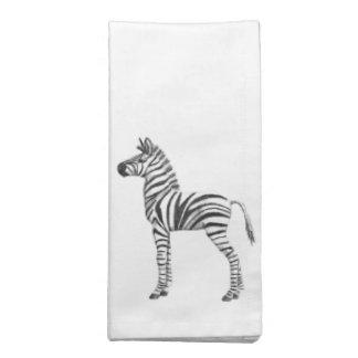 Cute Baby Zebra Drawing Cloth Napkin