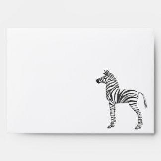 Cute Baby Zebra Drawing Envelope