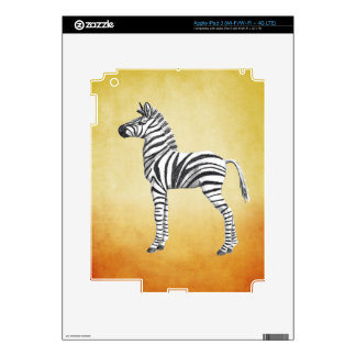 Cute Baby Zebra Drawing Skins For iPad 3