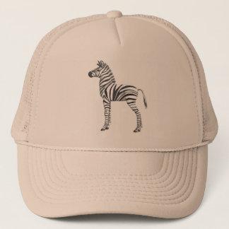 Cute Baby Zebra Drawing Trucker Hat