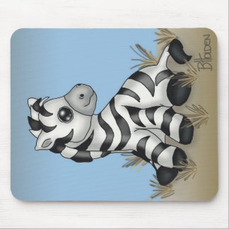 Cute Baby Zebra Mouse Pad