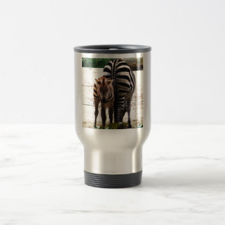 Cute Baby Zebra picture 15 Oz Stainless Steel Travel Mug