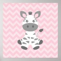 Cute Baby Zebra Poster