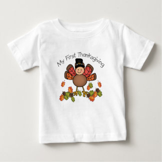 Cute Baby's First Thanksgiving Turkey Baby T-Shirt
