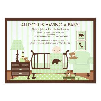 Cute Baby's Room Scene Shower Invitation