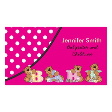 Cute Babysitter or Childcare Business Card