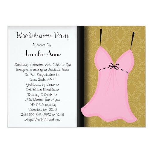 Cute Bachelorette Party Card