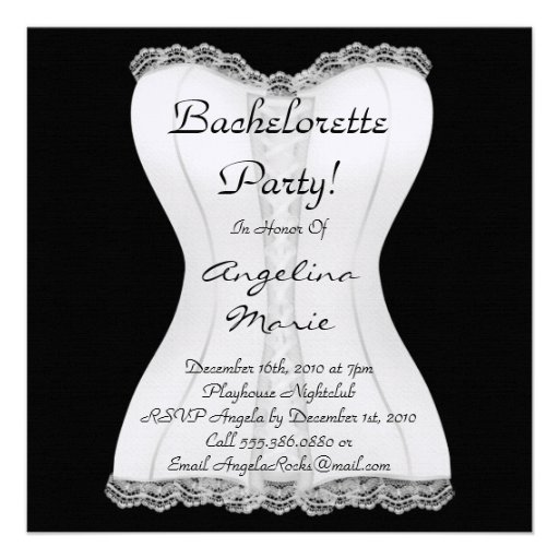 Cute Bachelorette Party Custom Invitations