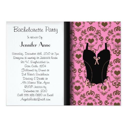 """Cute Bachelorette Party 5.5"""" X 7.5"""" Invitation Card"""