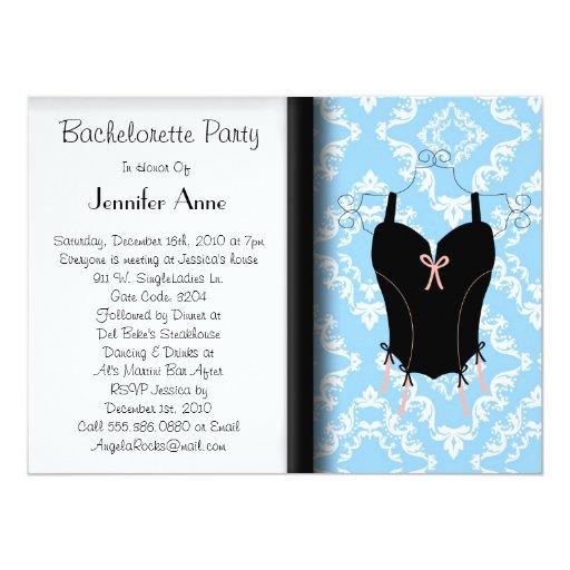 Cute Bachelorette Party 5.5x7.5 Paper Invitation Card